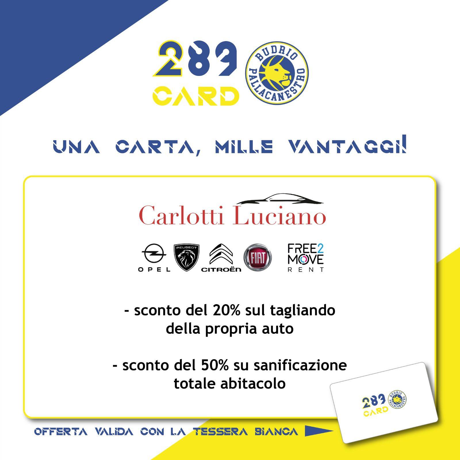 Da Carlotti Luciano IMPERDIBILE OFFERTA con 289Card !!